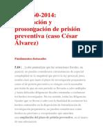 Adecuación y Prolongación de Prisión Preventiva