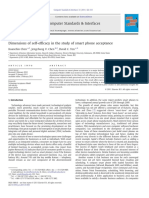 Computer Standards & Interfaces Volume 33 Issue 4 2011 [Doi 10.1016%2Fj.csi.2011.01.003] Kuanchin Chen; Jengchung v. Chen; David C. Yen -- Dimensions of Self-efficacy in the Study of Smart Phone Accep