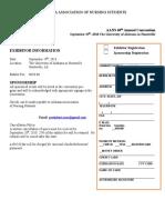 2018 vendor form