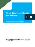 Brief quase-experimental desingn and methods