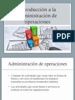 01 Introducción a La Administración de Operaciones