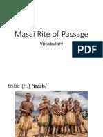 Masai Rite of Passage Vocab