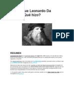 Quién Fue Leonardo Da Vinci