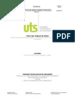 R-DC-95 Plantilla Informe Final Proyecto de Investigación, Desarrollo Tecnológico, Practicas