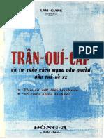 (1970) Trần Quý Cáp Và Tư Trào Cách Mạng Dân Quyền Đầu Thế Kỷ 20 - Lam Giang