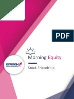 Kiwoom Trading plan, 21 Agustus 2018