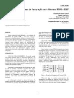 Integração Entre Sistemas PDM e ERP