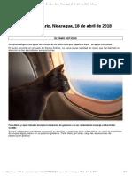 El Nuevo Diario, Nicaragua, 18 de Abril de 2018 - Infobae