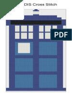 TARDIS Cross Stitch