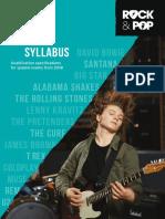 Trinity R&P Guitar Syllabus From 2018