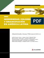 Modernidad Colonialismo y Emancipacion