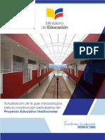 Guia Metodologica Para La Construccion Participativa Del Proyecto Educativo Institucional