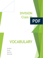 Ppt on Division