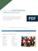 School Readiness Presentation