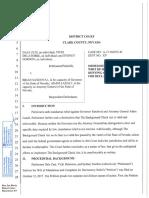 Clark County Order - Background Checks