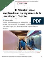 Noticia del espectador sobre peces de atlantis