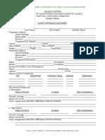 UST NSTP-ROTC - Cadet Info Sheet