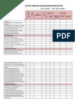 Ficha de Seguimiento de Tareas de Casa Realizadas Por Los Ppff 2015