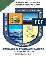 Diccionario de investigacion científica
