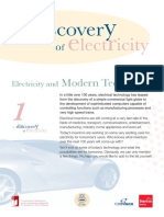 Fact Sheet Electricity and Modern Technology