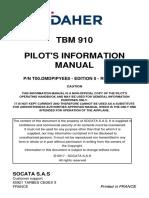 TBM 910 Flight Manual