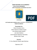 Softwares Para El Cálculo de Reservas Mineras (Autoguardado)