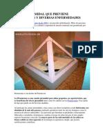 Cunita Piramidal Que Previene Infecciones y Diversas Enfermedades