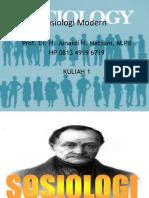 Sosiologi Modern Kuliah 1