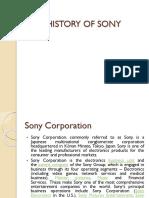 History of Sony