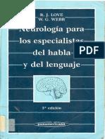 - Neurología Para Los Especialistas Del Habla y Del Lenguaje.