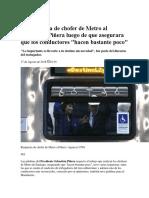 La Respuesta de Chofer de Metro