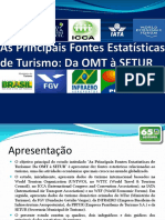 541. as Principais Fontes Estatísticas de Turismo Da OMT à SETUR