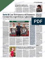La Provincia Di Cremona 21-08-2018 - Serie B