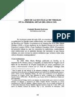 Traductores de Las Bucolicas de Virgilio en La Primera Mitad Del Siglo XiX