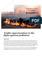 Viable opportunities in the fight against pollution