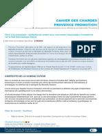Le cahier des charges de Provence Promotion