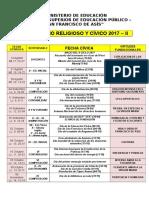 Calendario Religioso y Cívico 2017 - II
