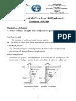Model Answer of Soil 2 Midterm