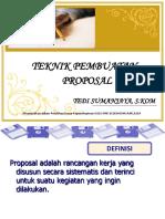 Teknik Pembuatan Proposal SMK RAFLESIA