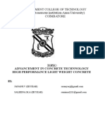 Advancement in Concrete Technnology