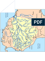 Amazon river basin map