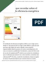 10 Aspectos Que Recordar Sobre El Certificado de Eficiencia Energética - Fundación La Casa Que Ahorra – Eficiencia Energética en Edificación
