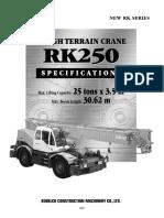 25T Kobelco Crane