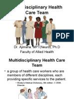 Multidisciplinary Health Care Team