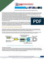Fiber Optic Components for Fiber Optic Gyroscope Applications