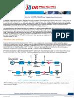 Fiber Optic Components for Ultrafast Fiber Laser Applications