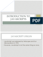 Introduction to Javascripts(New)