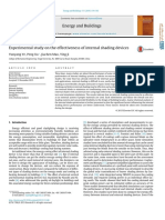 Experimental Study on the Effectiveness of Internal Shading Devices