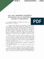 Orosio y Draconcio Los Dos Primeros Filosofos Hispanos_Elias de Tejada