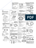 Plane and Solid Geometry Formulas
